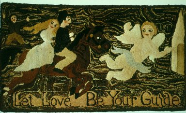 Let Love Be Your Guide Hooked Rug
