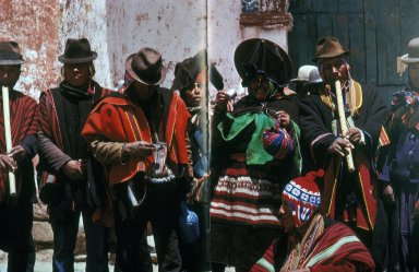 Chieftain's Wife from Calamarca Wearing Ceremonial Urku