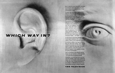 CBS Advertisement 'Which way in?'