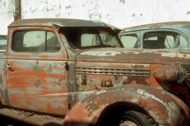 Old Cars in Portis, Kansas