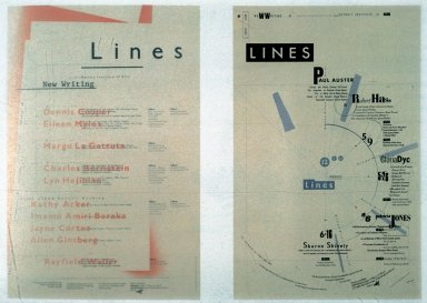 Lines Poetry Reading Poster