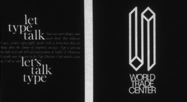 Let Type Talk. World Trade Center