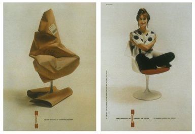 Knoll Chair Advertisement - Successive Pages in Magazine