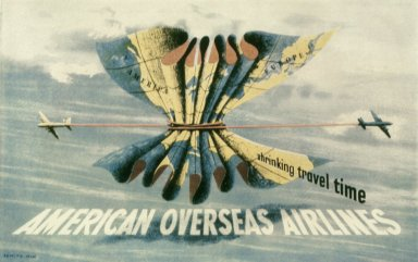 American Overseas Airlines Poster