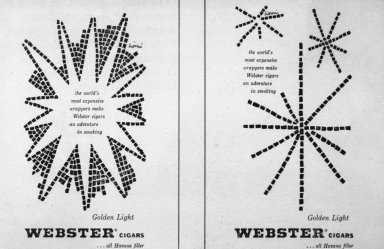 Webster Cigar Advertisements
