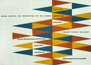 Invitation/Announcement Card for Alvin Lustig Exhibiton