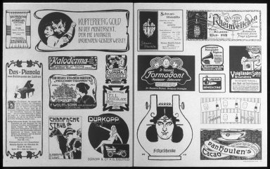 Advertisements from Jugendstil Magazine