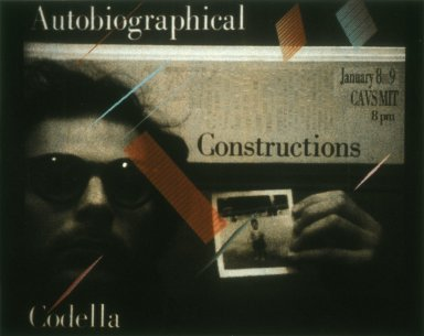 Codella Autobiographical Constructions Poster