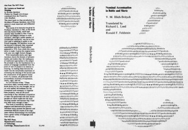 Nominal accentuation in Baltic & Slavic book