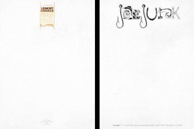 Lemont Garage and Joe Junk Letterheads