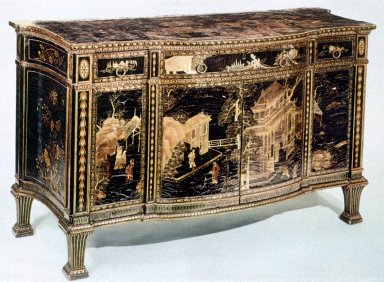 Japanned Bedroom Commode from Harewood House