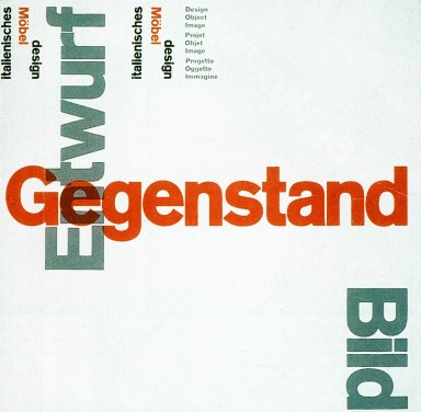 Catalog for Entwurf Gegenstand Furniture Design