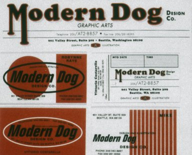 Stationery for Modern Dog Design Company