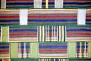 Brilliant Textile of Atypical Assymetrical Striping