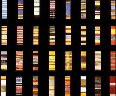 Selection of 32 Asante Warp Patterns