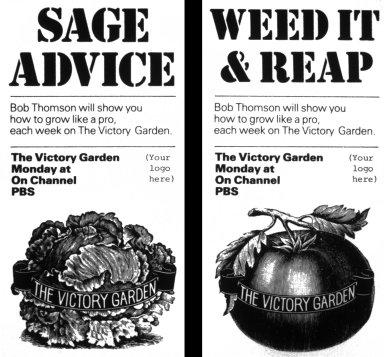 Crockett's Victory Garden Newspaper Advertisements