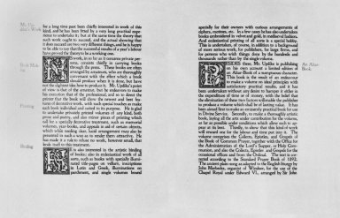 Few Words About Printing, Bookmaking, and Their Allied Arts