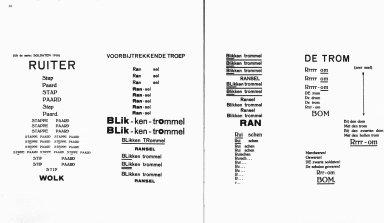 Visual Poems from De Stijl Magazine