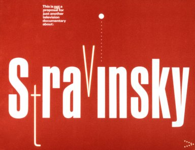 WGBH Boston Proposal for Stravinsky