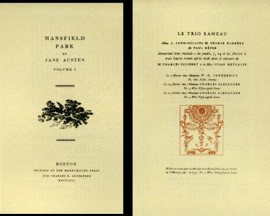 'Manfield Park' by Jane Austen