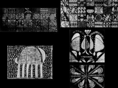 Handpainted Adire: Ibadandun Design