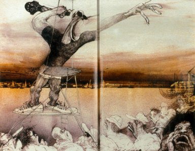 2-page spread from the Curse of Lono
