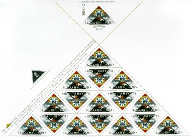Promotional for Printer Parodying Stamps