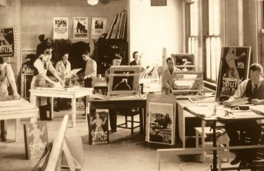 WPA - Federal Art Project, Photograph of Students Working in Studio