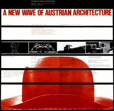 Poster for Architecture Lecture - A New Wave of Austrian Architecture