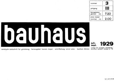 Bauhaus Magazine No. 3