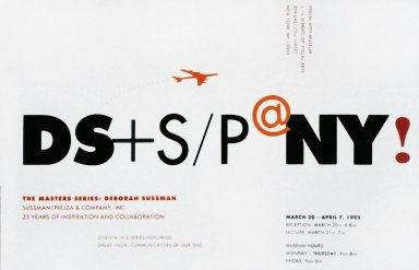 Poster for Deborah Sussman Lecture at School of Visual Arts