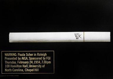 AIGA Raleigh Chapter Cigarette Poster