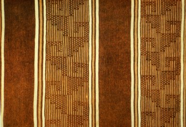 Cotton Cloth in Warp Stripe with Stepped Pattern