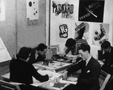 WPA - Federal Art Project, Photograph of Students Working