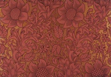 Fritillary Wallpaper Series: Red on Gilt