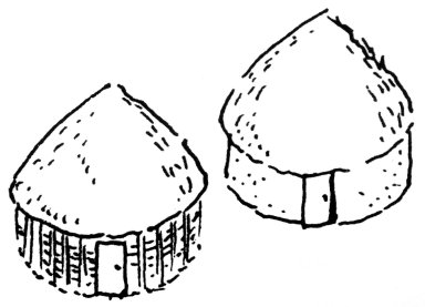 Circular Huts in Reed or Lath and Plaster Construction