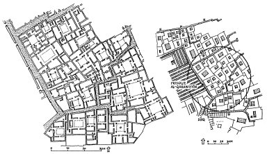 Central Part of Fez Morocco and Enlarged Plan