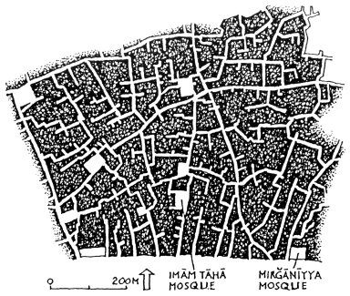 Central Part of Baghdad with Neighborhood Squares