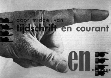 Advertisement with Large Hand