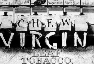 Chew Virgin Leaf Tobacco Poster