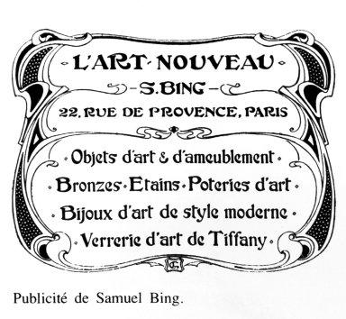 Art Nouveau Advertisement for Samuel Bing