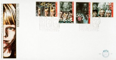 Stamp and First Day Envelope with Children of Postal Workers