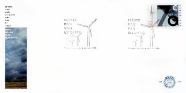 Stamp and First Day Envelope with Dutch Landscape