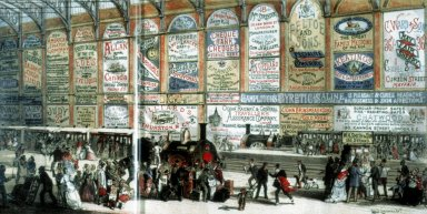 Railway Station Advertising, 1874