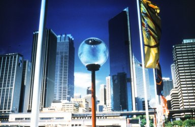 Flags and Lanterns Lining Circular Quay in Central Sydney, During the Festival in January, 1996