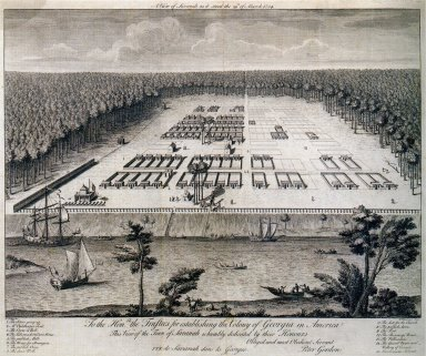 A View of Savannah As It Stood the 29th of March 1734