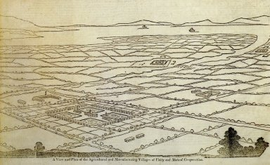 A View and Plan of the Agricultural and Manufacturing Village of Unity and Mutual Cooperation