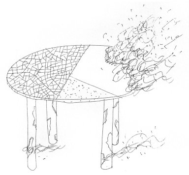 Broken Glass Table