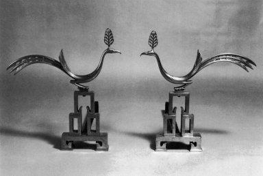 Bronze Andirons