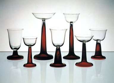 Drinking Glasses with Ruby Black Feet